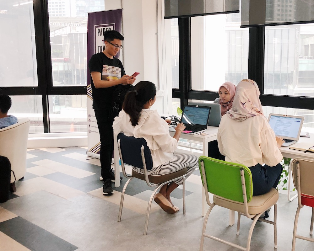 PAPER + TOAST coworking space kuala lumpur virtual office