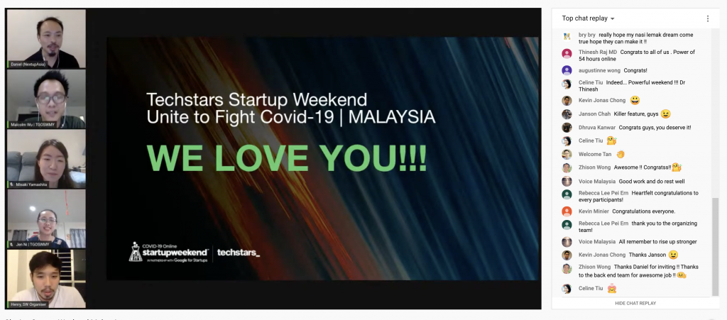 Techstars Global Online Startup Weekend Malaysia Unite to Fight Covid-19_PAPER + TOAST